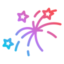 new, year, fireworks, celebration, new year, party, sparkler icon