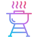 new, year, bbq, junk food, grill, burger, barbecue icon