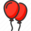 balloon, balloons, christmas, new, red, xmas, year icon