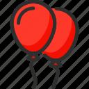 balloon, balloons, christmas, new, red, xmas, year