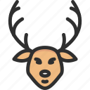 christmas, deer, elk, fawn, new, xmas, year icon