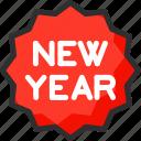 badge, christmas, new, sign, xmas, year