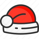 christmas, hat, new, red, xmas, year icon