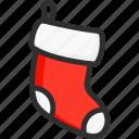 christmas, gift, new, sock, socks, xmas, year icon