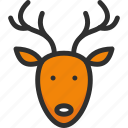 christmas, deer, elk, holidays, new, xmas, year icon