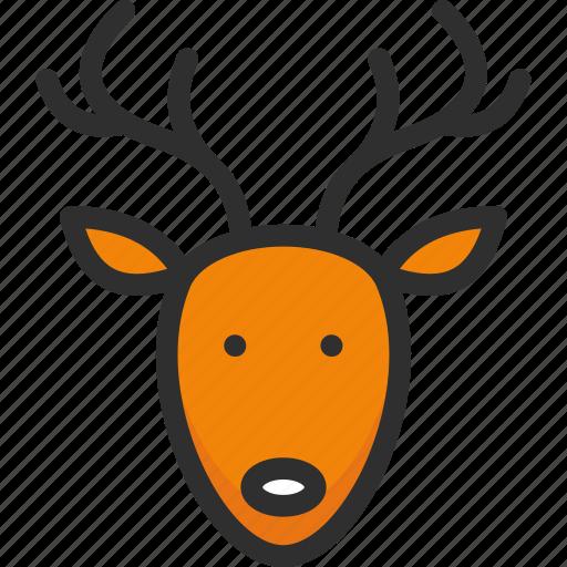 christmas, deer, elk, holidays, new, xmas, year icon