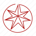 septangle, seven-pointed, star icon