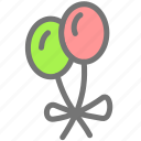 balloon, birthday, christmas, holiday, new year, party icon