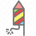 christmas, firecracker, firework, new year, party, rocket icon
