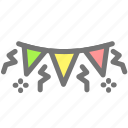 birthday, celebration, flag, holiday, new year, party icon