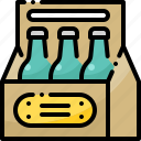 alcohol, beers, bottle, box, case, casket, crate