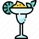 alcohol, beverage, cocktail, drink, glass, lemon, party icon
