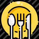 cutlery, dish, eat, fork, kitchen, knife, restaurant