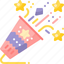 celebrate, celebration, confetti, festival, firecracker, firework, party icon