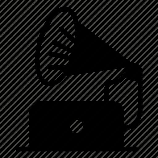 announcement, audio, loud, megaphone, speaker icon