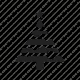 celebration, christmas, star, tree, winter icon