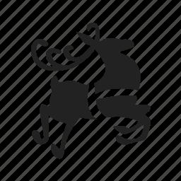 deer, reindeer, winter icon