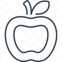 apple, food, fruit, new, york icon