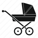 baby, carriage, child, kid, pram, simpe, wheel