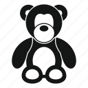 animal, bear, childhood, heart, simpe, teddy, toy icon