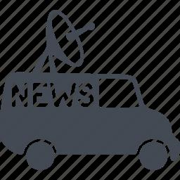 communication, media, mobile broadcasting, news icon