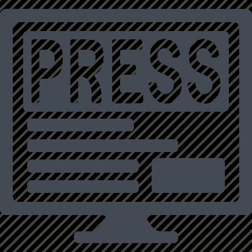 media, news, newspaper, paper icon