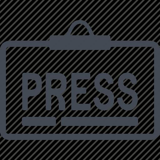 communication, media, news, press icon