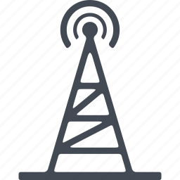 communication, media, news, television tower icon