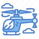 aircraft, fly, helicopter, transportation
