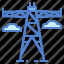 tower, network, technology, signal, telecommunication icon