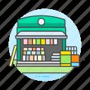 book, books, city, magazine, market, news, newspaper, shop, stand, store icon