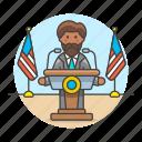 spokeperson, rostrum, news, spokesperson, male, speech, spokesman, nominee, speak, candidate, podium