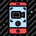 camera, mobile, recording, video icon