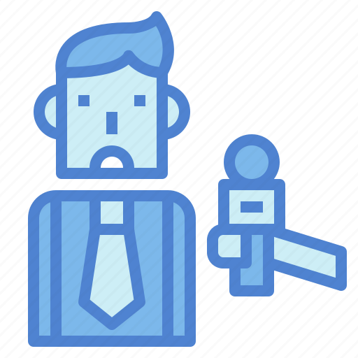 Grossip, interview, man, microphone, news icon - Download on Iconfinder