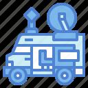 broadcast, news, outside, tv, van