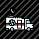 truck, news, reporter, interview, financial, sport