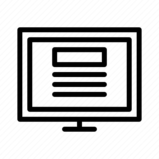 business, computer, information, journalist, news, report icon