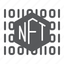 nft, code, non, fungible, token, currency, sign icon