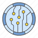 cryprto, nft, coin, non, fungible, token, security icon