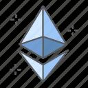 ethereum, finance, sign, eth, cryptocurrency, money, exchange