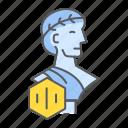 greek, statue, nft, art, sculpture, unique, token icon