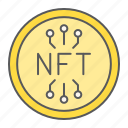 nft, coin, non, fungible, token, cryprto, security icon