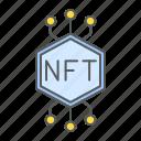 nft, sign, unique, token, cryptocurrency, digital, crypto icon