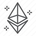 ethereum, finance, sign, eth, cryptocurrency, money, exchange icon