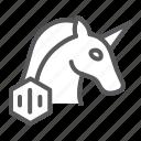 unicorn, nft, unique, token, horse, non, fungible icon