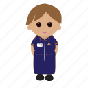 female, nhs, nurse, nursecartoon, uniform icon
