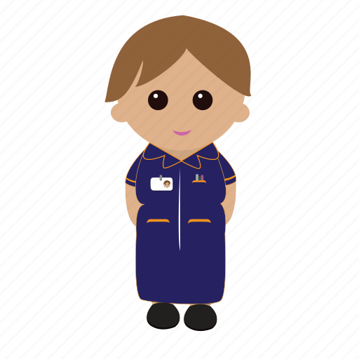female, nhs, nurse, nursecartoon, uniform icon