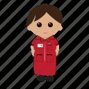 cartoon, female, nhs, nurse, uniform icon