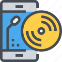 app, dj, mobile, music, party, smartphone, song icon