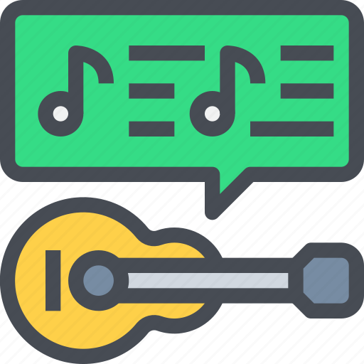 guitar, instrument, music, song icon